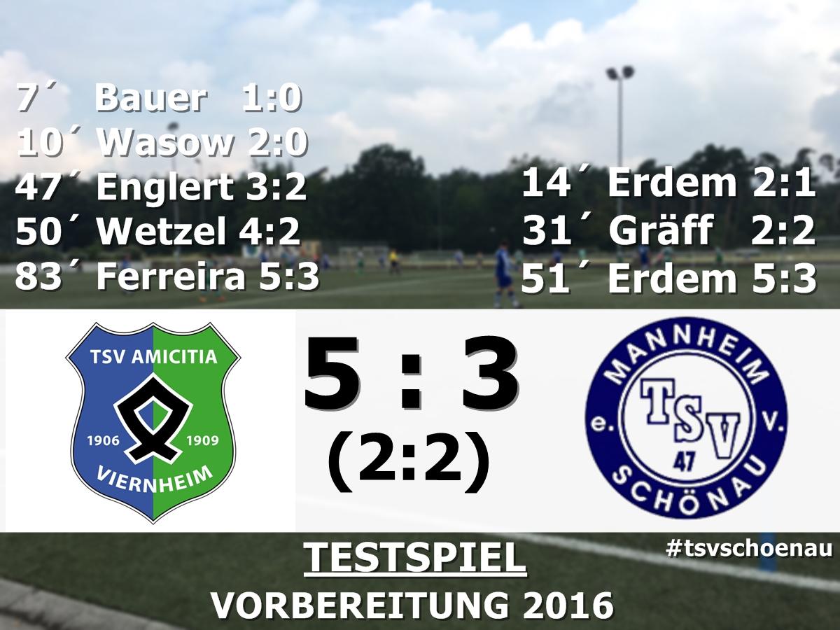 SENIOREN | 5:3 gegen Amicitia Viernheim 2